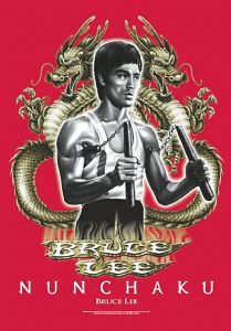 Bruce Lee Nunchaku Large Fabric Poster/Flag 1050mm x 750mm (hr)